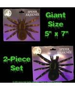 Realistic Flocked GIANT TARANTULA SPIDERS Scary Horror Halloween Prop De... - $8.78