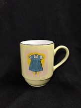 MUG Blue and White Dress On Yellow  Continental Supradura The Furnace Fa... - $16.82