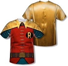 Robin Classic Batman Tv Sublimation Comics Costume Polyester 2 Sided Shirt S-3XL - $28.99+