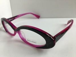 New ALAIN MIKLI AL1017 AL 1017 0001 55mm Magenta Cat Eye Eyeglasses Frame France - $436.59