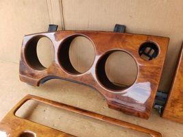 00-03 Jaguar XK8 XKR 8pc Wood Grain Dash Console Switch Trim Set image 3