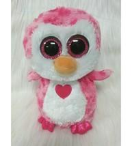 "9"" Ty Beanie Boo Juliet Owl Pink Hearts Plush Toy Big Eyes Boos Medium B212 - $14.97"