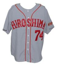 Alfonso Soriano Hiroshima Carp Retro Baseball Jersey Button Down Grey Any Size image 1