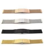 Watch Strap Bracelet SHARK MESH STAINLESS STEEL SOLID LINK Band Deployme... - $48.20
