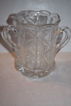 Antique Northwood Cherry & Cable Spooner DOUBLE HANDLE Cherries CLEAR EAPG - $27.71