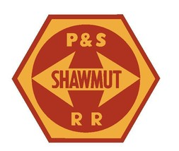 Pittsburg and Shawmut Railroad Sticker Decal R4649 Railway Train YOU CHOOSE SIZE - $1.45+
