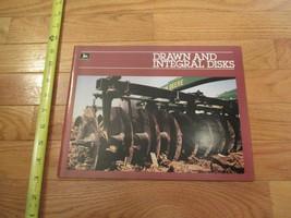 John Deere Drawn & Integral Disks Vintage Dealer sales brochure 25 - $15.99
