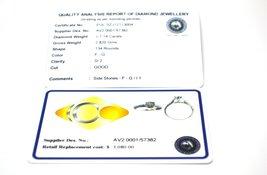 14k White Gold EGL Certified 1.14 ctw Diamond Engagement Ring AVD9352027 image 7