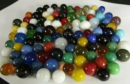 AKRO AGATE MARBLE LOT of 106 moonies opals Peltier ESTATE SALE 29 cents ... - $28.04