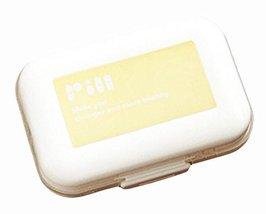 George Jimmy Decent Mini Portable Pill Organizer Classical Pill Case-Yellow - $15.44