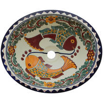 Mexican Ceramic Sink Decorative Handmade Hand painted # X34 - $109.29