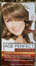 L'Oreal Excellence Creme - 5 N Medium Natural Brown Age Perfect - $14.95