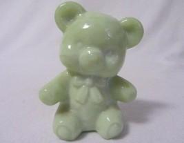 "Boyd Glass Fuzzy The Bear Sea Green 3"" High Figurine B In Diamond 1 Line - $12.99"