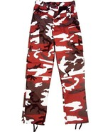 Red Camouflage Military BDU Cargo Bottoms Fatigue Trouser Camo Pants - $27.99 - $31.99