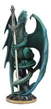 Ebros Ram Skull Blade Ruth Thompson Green Dragon Statue with Dragon Lett... - €37,07 EUR