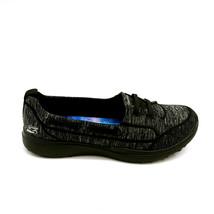 Skechers Womens Topnotch Microburst Slip On Sneakers 23317 Low Top Black 9M New - $59.39