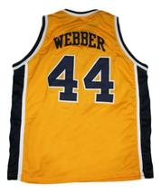 Chris Webber Detroit Country Day Basketball Jersey Sewn Yellow Any Size image 2