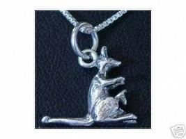 NICE Kangaroo Pendant Charm Sterling Silver Animal - $17.37