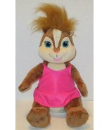 """BUILD A BEAR ALVIN CHIPMUNKS BRITTANY CHIPETTE IN PINK DRESS 14"""" PLUSH D... - $7.99"""