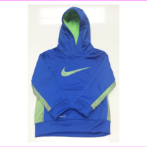Nike Boys' KO 3.0 Therma-FIT Colorblock Hoodie, Blue/Neon Green/Grey, Sz 4 - $12.10