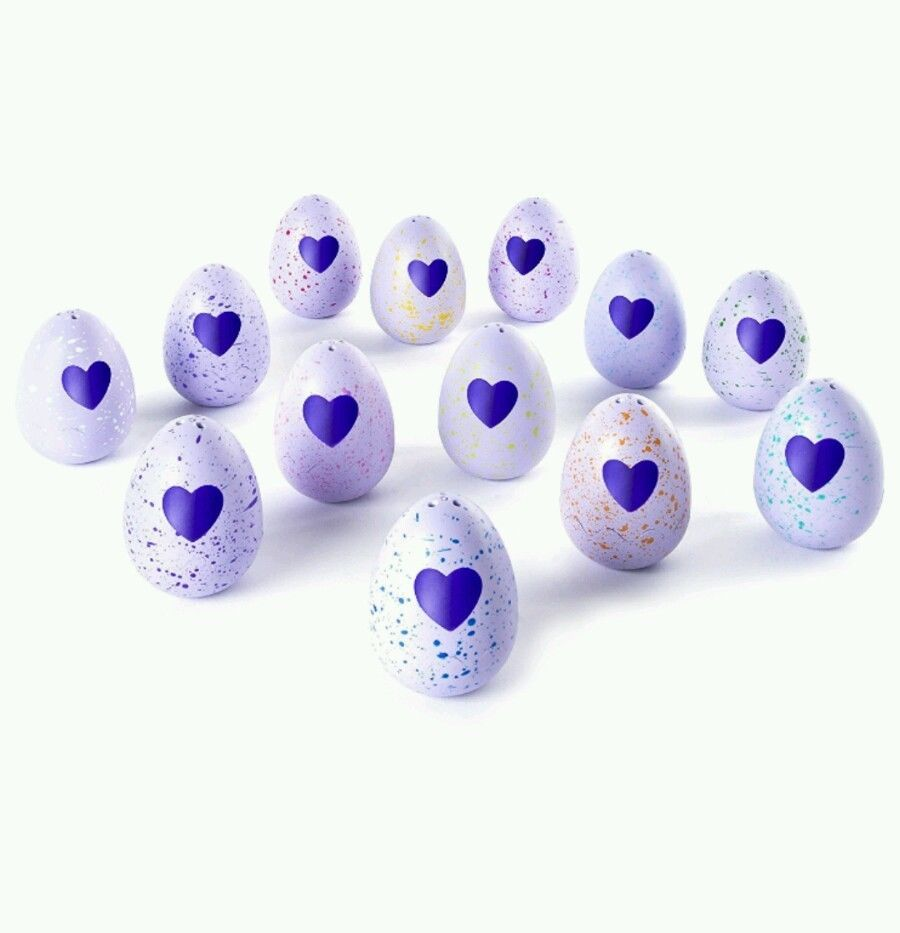 Hatchimals CollEGGtibles 4-Pack Christmas Gift Four Set Bonus Rub Egg Heart Kids