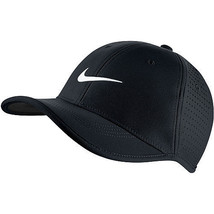NEW! Black Nike Youth Unisex Ultralight Perforated Adjustable Golf Hat - $44.43