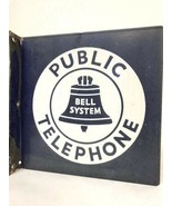 Vintage Public Telephone Bell System Pay Phone Double Sided Porcelain Si... - $350.00