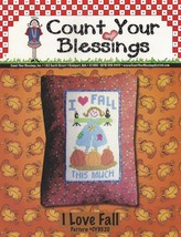I Love Fall, Count Your Blessings Cross Stitch Pattern Booklet CYB520 OOP - $2.95