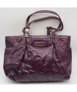 Coach Madison Gallery Plum Patent Leather Tote Bag Purse F15253 - $79.19
