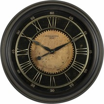 "Nice Wall Clock 24"" 2' Large Analog Roman Numeral Antiqued Shabby Chic F... - $150.00"