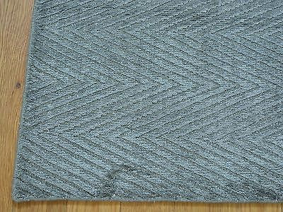 2'x3' Grey Modern Bamboo Silk Tone On Tone Oriental Rug Hand Loomed G23352