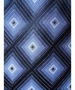Van Huesen Tie Black Grey Diamond Checkered Pattern Mens Necktie - $3.50