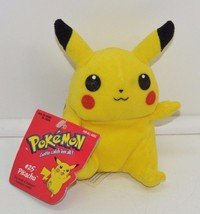 "Nintendo  Pokeman Pikachu Plush Hasbro 6"" Stuffed Animal  #25 NEW - $19.39"