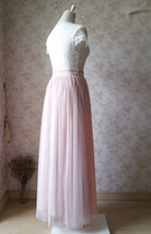 BLUSH High Waist Full Tulle Maxi Skirt Blush Wedding Women Maxi Tulle Skirts NWT image 4