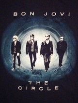 Bon Jovi The Circle Concert Tour 2010 Black Souvenir Rock Music T Shirt L - $12.86