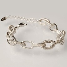Silver 925 Bracelet Laminated Yellow Gold Pink Rhodium Circles By Mary Jane - $266.59