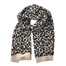 Kate Spade Women's Cheetah Jacquard Bow Muffler Scarf, Pumice - $79.19