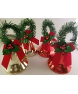 Christmas Bells w Pine Garland Loops Red Bows & Holly 1/Pk, SELECT: Type - $2.99