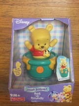 Fisher Price Pooh Babies Winnie the Pooh Roll-A-Rounds Rolls & Makes Sou... - $32.68