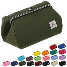 watona canvas mouth 5 size makeup pouch (wide) 50 w (olive green) - $38.40