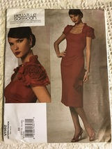Vogue Pattern V1162 Bellville Sassoon Fitted Straight Dress Flower Sleeves 14-20 - $32.00