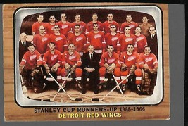1966-67 Topps #119 Red Wings Stanley Cup Runner Up Card VG - $34.63