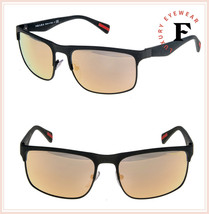 PRADA LINEA ROSSA RUBBERMAX 56P Matte Green Orange Mirrored Sunglasses P... - $264.33