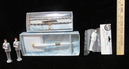 Wedding Pen White 3 Groom Wilton Cake Toppers & Arm Band Ball & Chain Lot 5 - $9.89