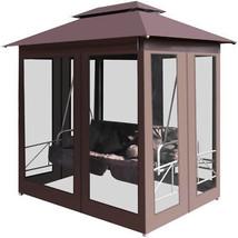 Outdoor Gazebo Swing Chair Bed Courtains Patio Garden Sun Shade Tent Fur... - $665.21