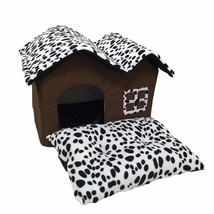 High-End Soft Sided Indoor Collapsible Small Dog or Cat House with Cushion - $27.11