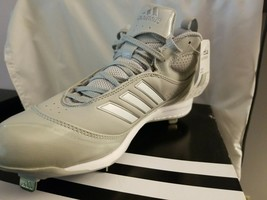 Adidas Excel 365 Baseball Metal Cleats Grey/White (Multiple Sizes) G49609 - $14.95