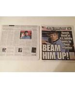 DEATH OF SPOCK: LEONARD NIMOY DEATH N.Y. POST AND N.Y. TIMES NEWSPAPERS ... - $46.75