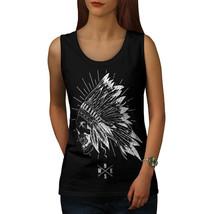Apache Skull Head Fantasy Tee USA Native Women Tank Top - $12.99