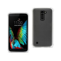 REIKO LG K10 MIRROR EFFECT CASE WITH AIR CUSHION PROTECTION IN CLEAR - $6.90